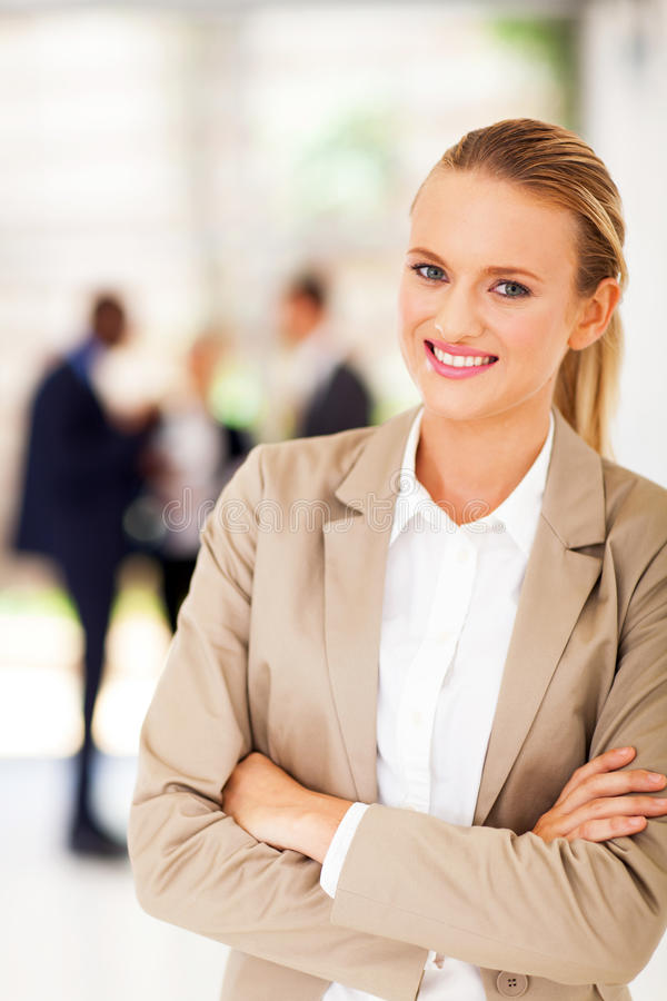 Download Pretty office worker stock photo. Image of collar, arms - 29146834