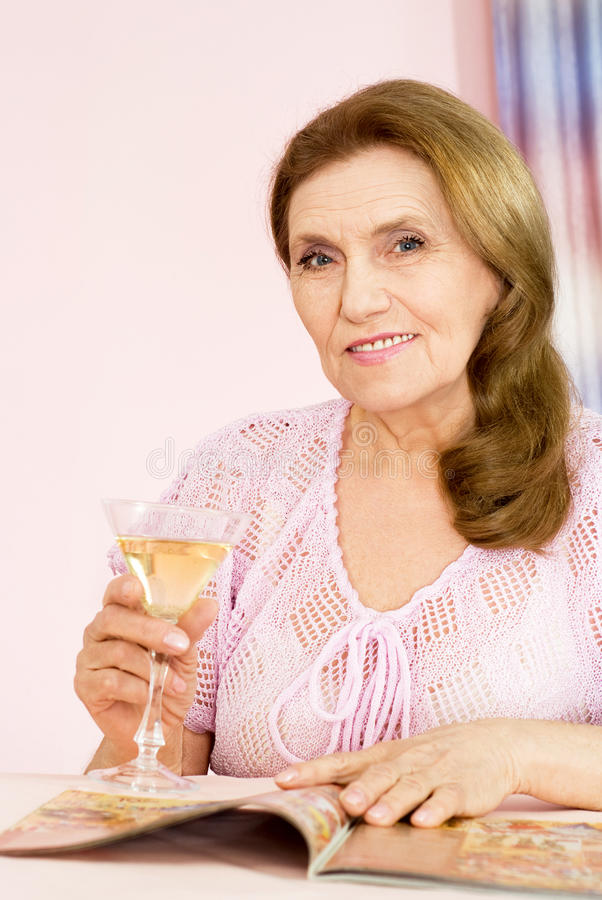 Pretty old woman royalty free stock photography