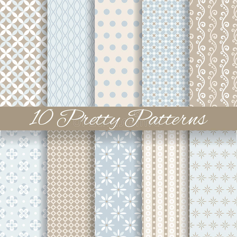 Free Pretty Pastel Vector Seamless Patterns (tiling, Royalty Free Stock Photography - 38210077