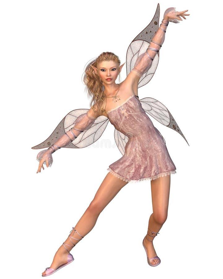 Pretty Pink Fairy stock illustration