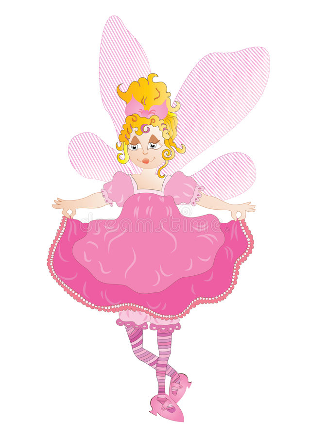 Download Pretty pink fairy stock vector. Illustration of magic - 9229307