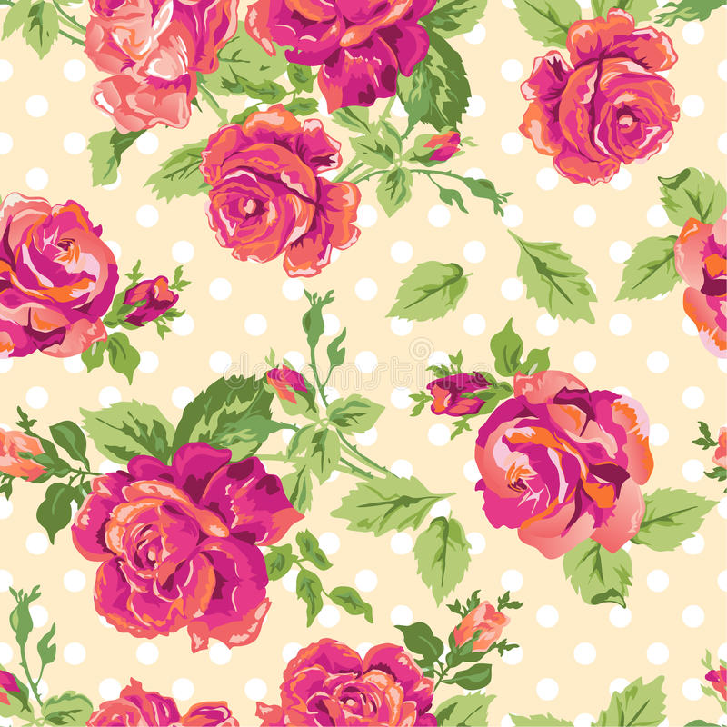 Pretty pink roses. ~ seamless background royalty free illustration