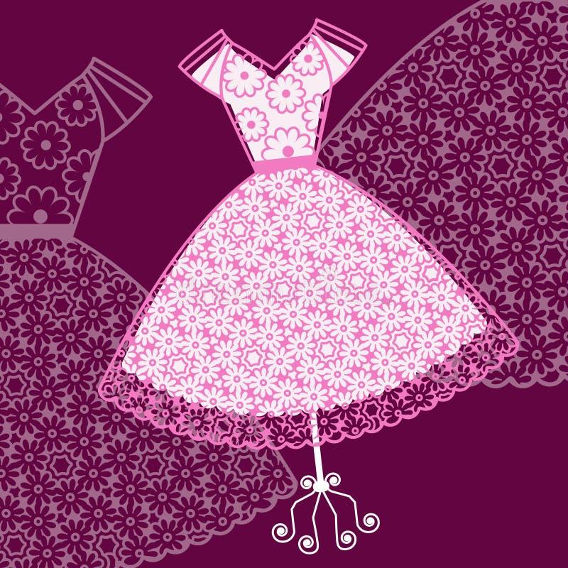 Pretty pink sundress vector illustration