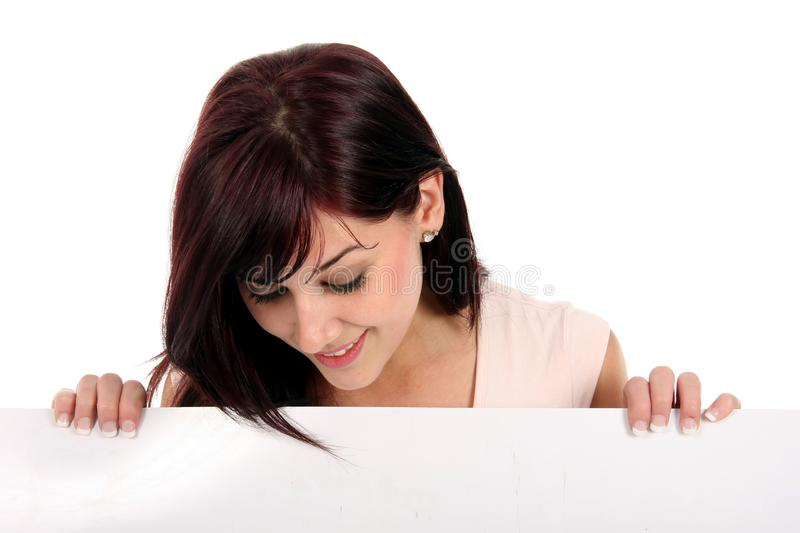 Download Pretty Presentation Girl stock photo. Image of banner - 9744032