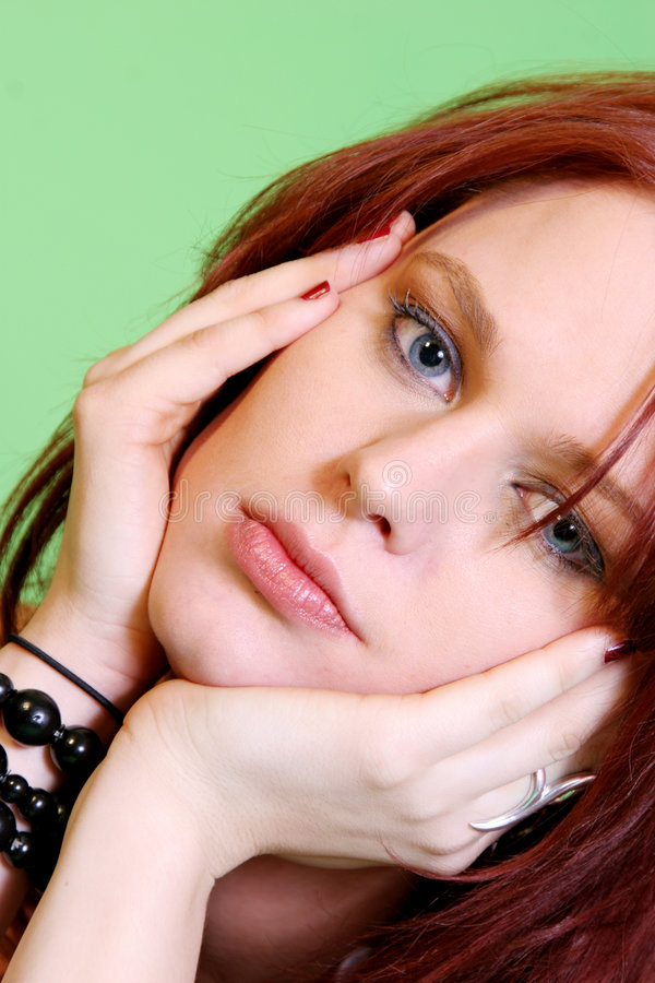 Download Pretty Redhead Girl stock photo. Image of closeup, appeals - 1855372