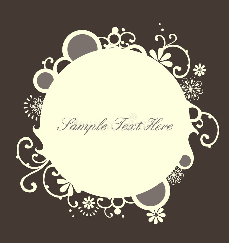 Pretty rounded frame royalty free stock image