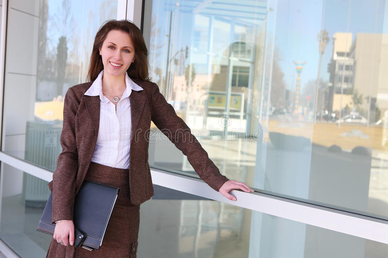 Pretty Russian Business Woman stock image