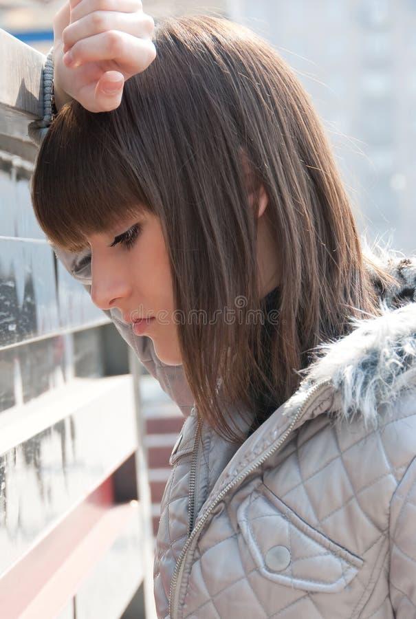 Download Pretty Sad Young Girl Posing Stock Image - Image: 9165265