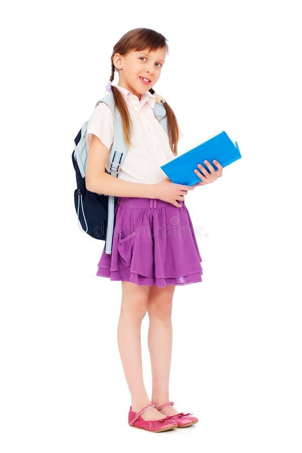 Download Pretty Schoolgirl Reading Book Stock Image - Image: 18538737