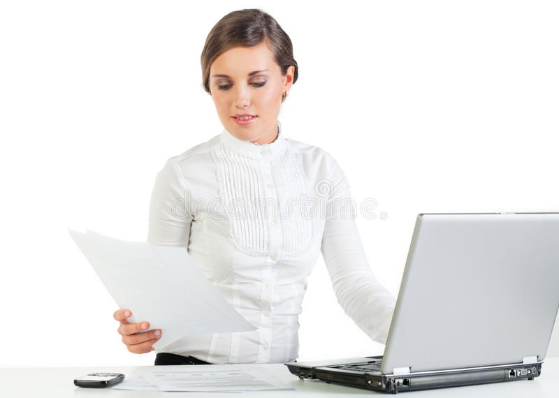 Pretty Secretary At Work Royalty Free Stock Photo