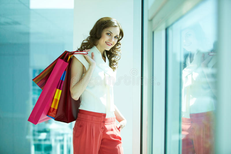 Download Pretty shopper stock image. Image of commercial, happy - 22109005