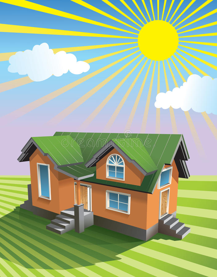 Download Pretty small house stock vector. Image of illustration - 9842263
