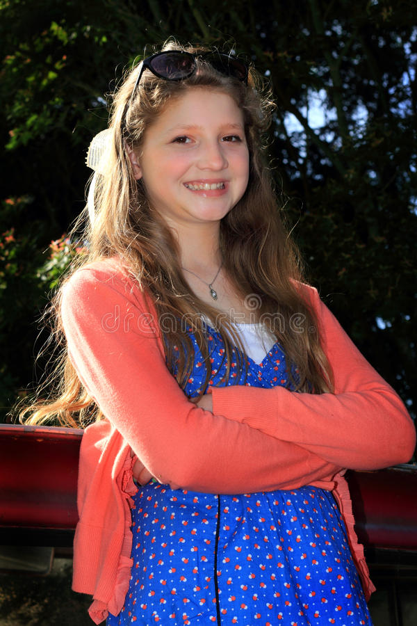 Pretty Smiling Preteen royalty free stock photography