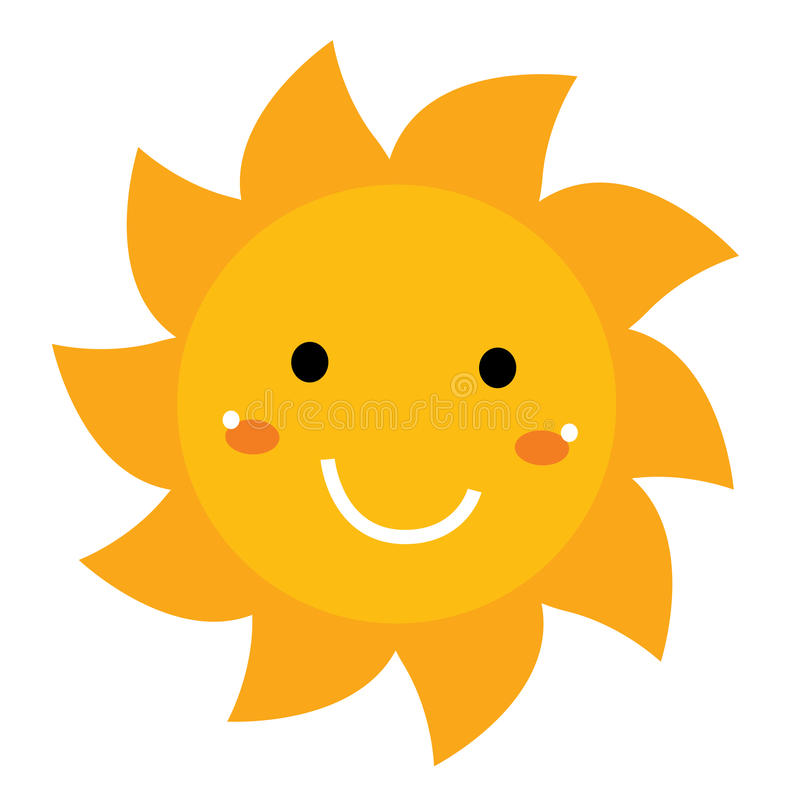 pretty smiling sun clipart isolated on white stock illustration rh dreamstime com smiling sun with sunglasses clipart smiling sun clipart images