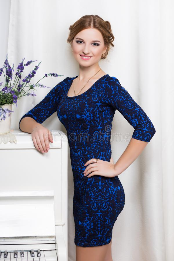 Pretty smiling woman royalty free stock photo
