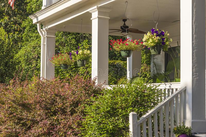 Pretty southern porch stock photography