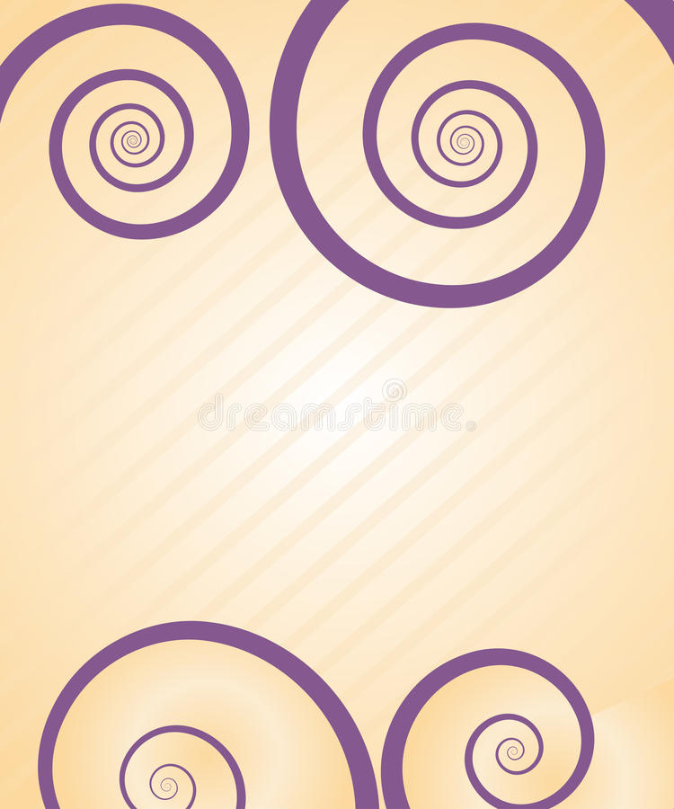 Download Pretty spiral card stock vector. Image of lines, curves - 11030027