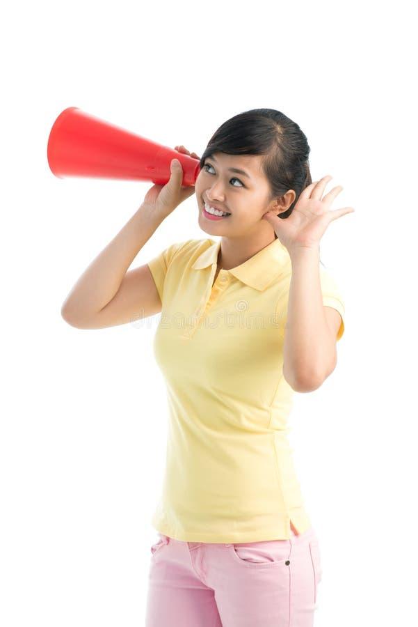 Download Pretty spy stock photo. Image of cone, casual, attentive - 28376042