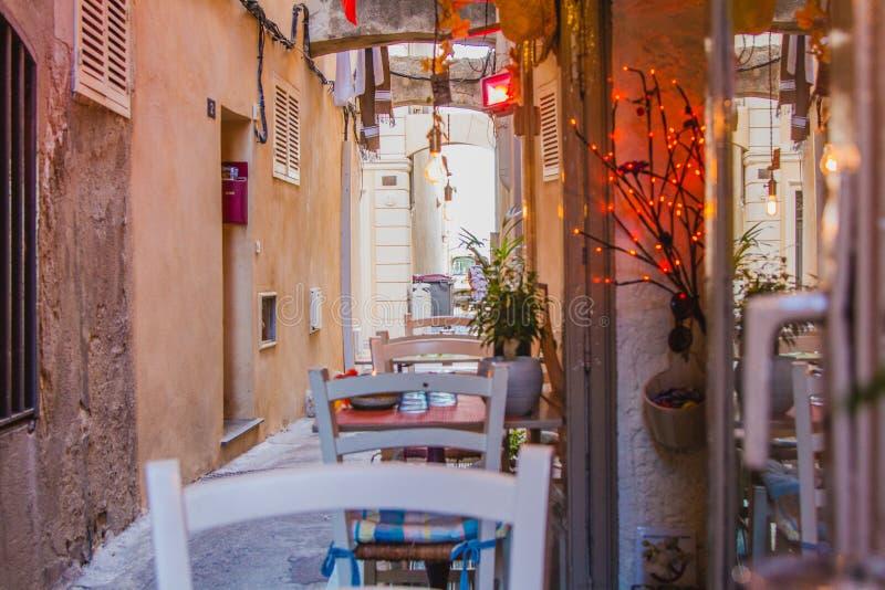 A Pretty Alfresco French Restaurant royalty free stock photos