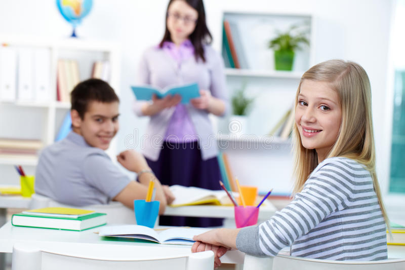 Download Pretty student stock image. Image of adolescent, classmate - 25940491