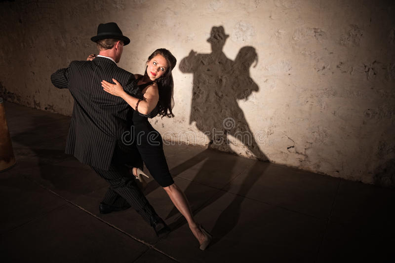 Pretty Tango Dancer with Partner stock photo