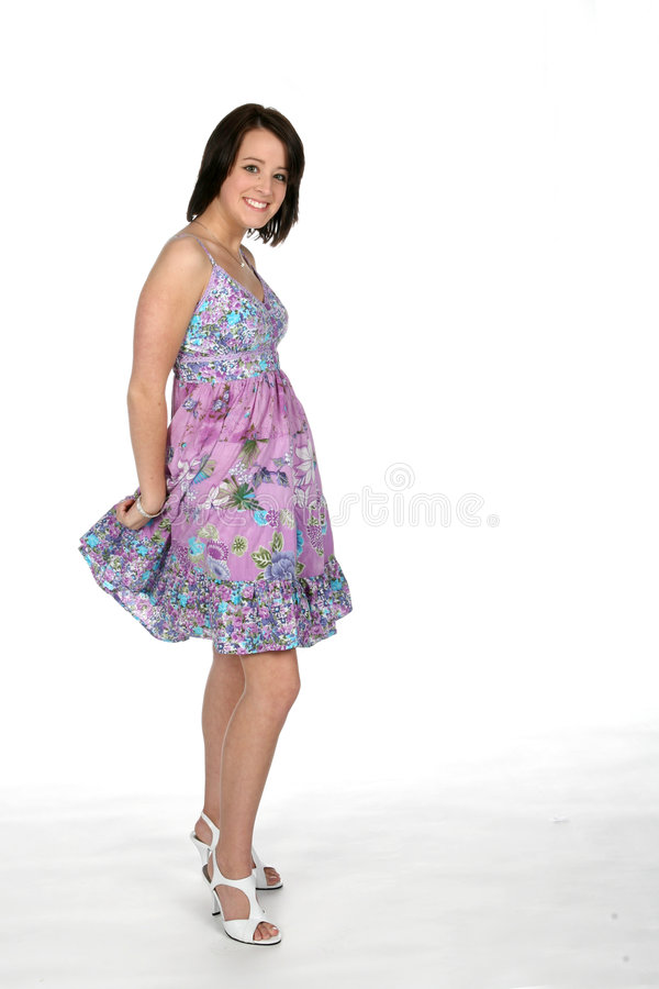 Download Pretty teen in dress stock image. Image of full, cute - 5878715
