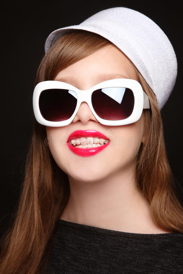 Download Pretty Teen Girl With Dental Braces Stock Image - Image: 19220927