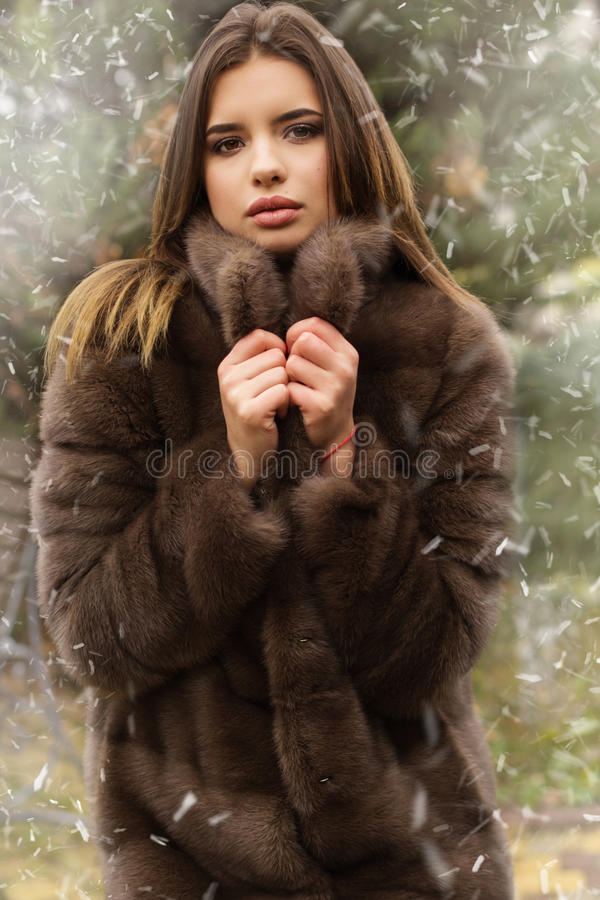 teen girl in fur