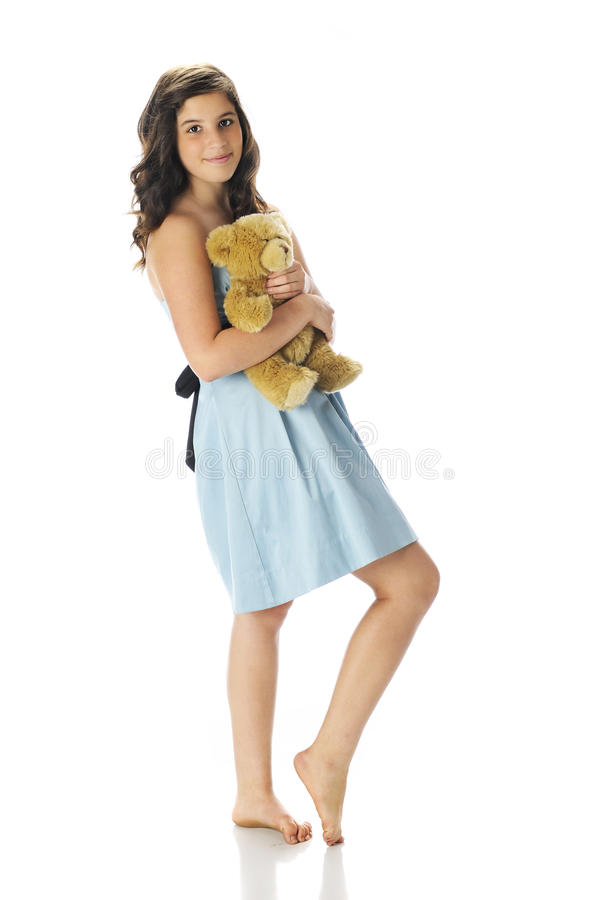 Download Pretty Teen With Her Teddy Bear Stock Photos - Image: 32289513