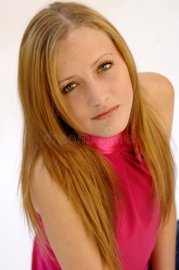 Download Pretty teenage girl stock image. Image of pink, attractive - 7351541