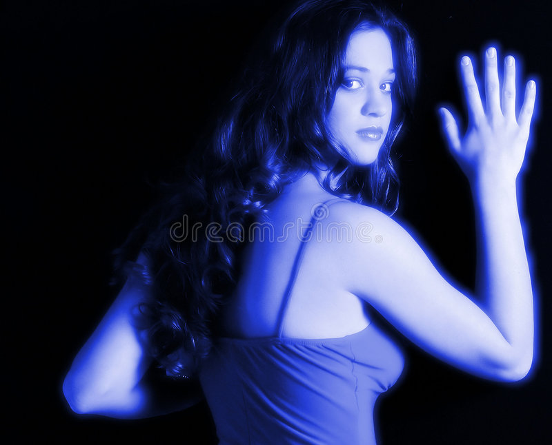 Download Pretty Teenage Girl In Blue Stock Photo - Image: 3598634