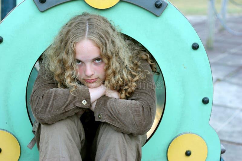 Pretty tenager girl stock photos