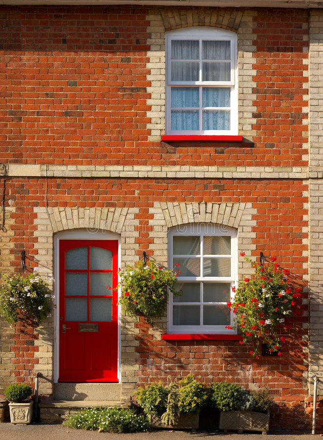 Pretty terraced cottage royalty free stock image