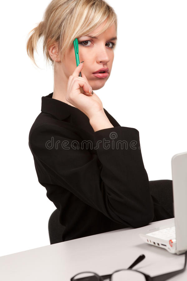 Download Pretty Thoughtful Businesswoman Stock Photo - Image: 13237686