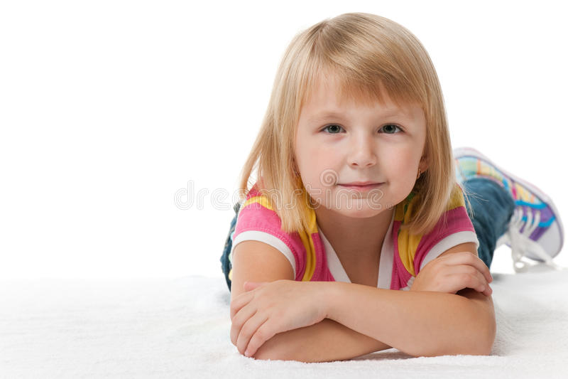 Download Pretty Thoughtful Little Girl Stock Image - Image: 21941527