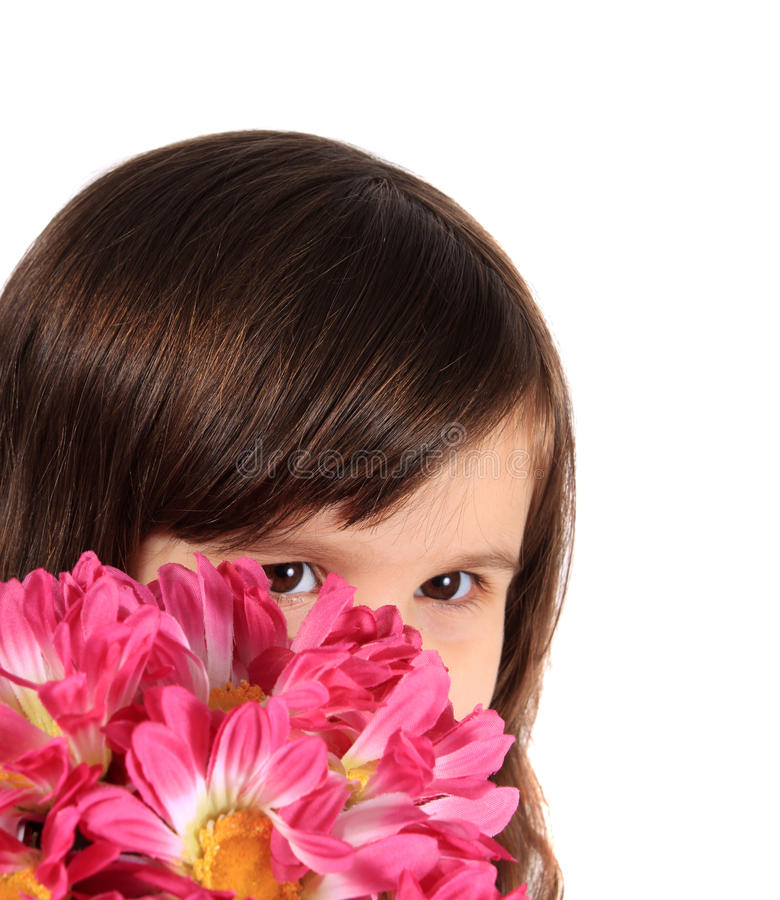 Download Pretty Three Year Old Girl With Flowers Stock Images - Image: 17148564