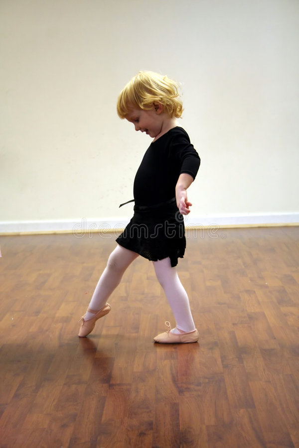 Pretty Toddler Ballerina stock images