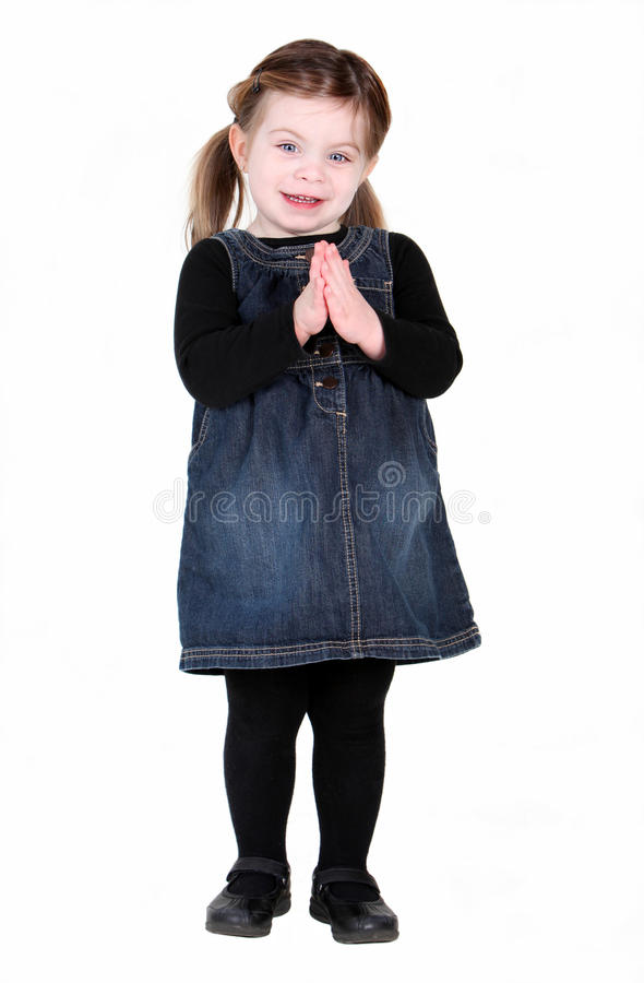 Download Pretty Toddler Girl With Hands In Prayer Stock Image - Image: 18793121