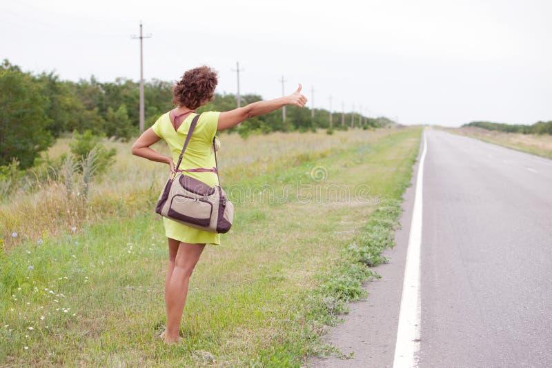 Download Pretty tourist stock photo. Image of hitchhiking, girls - 15593958