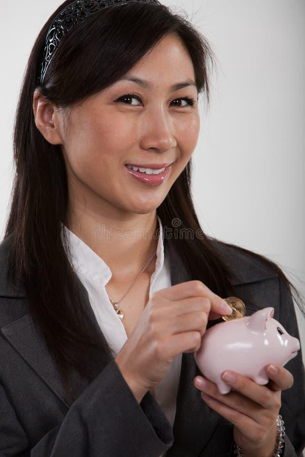 Pretty twenties asian businesswoman stock images