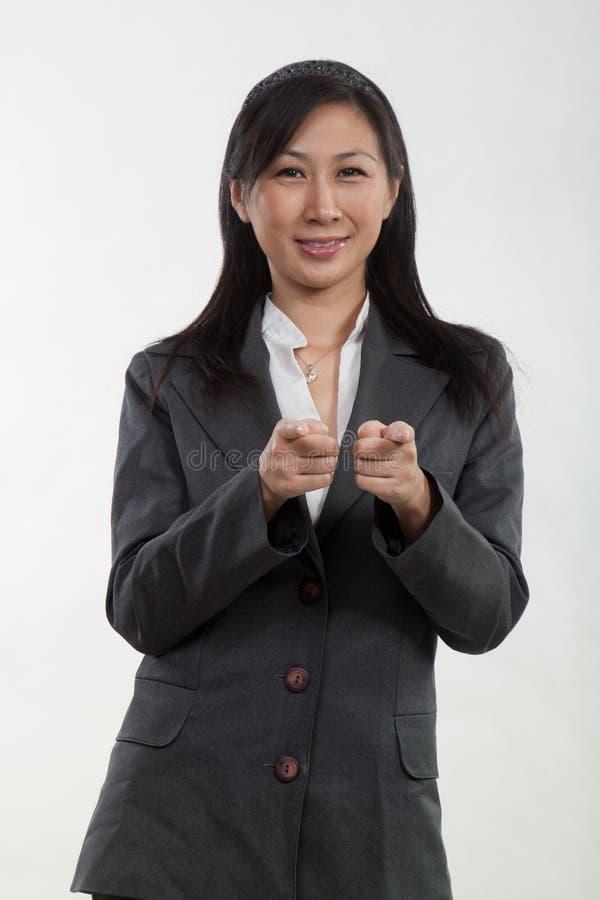 Pretty twenties asian businesswoman stock photography