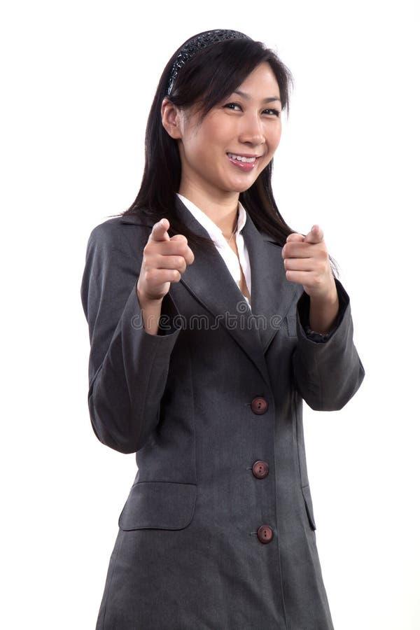 Pretty twenties asian businesswoman stock image