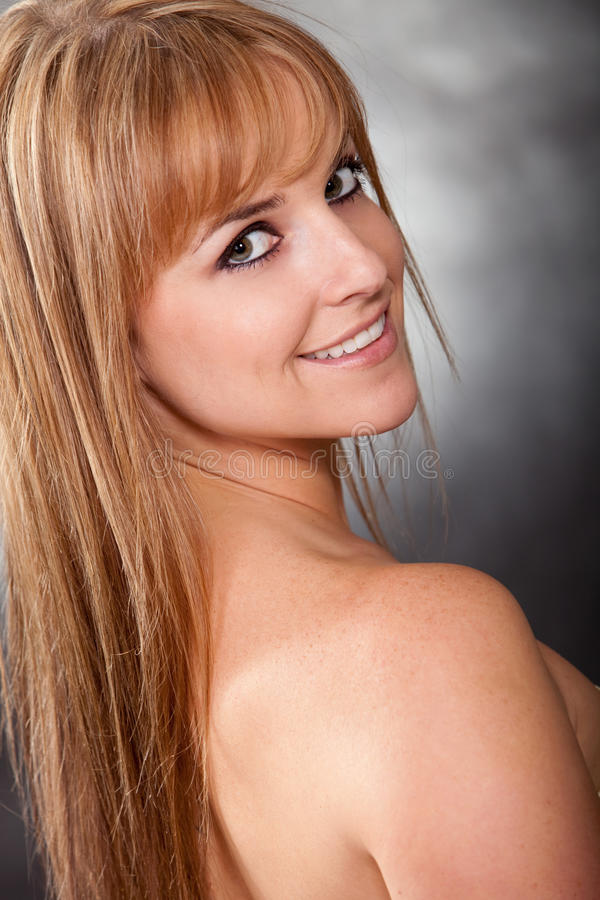 Pretty twenties caucasian blonde woman royalty free stock photography