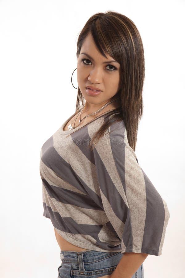 Pretty twenties filipino woman in fashion attire