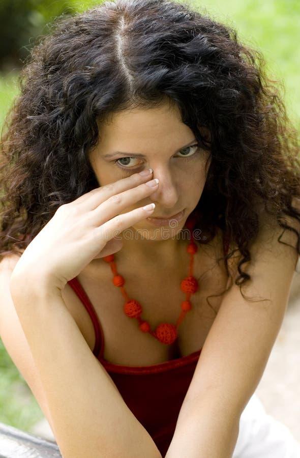 pretty unhappy woman στοκ εικόνα