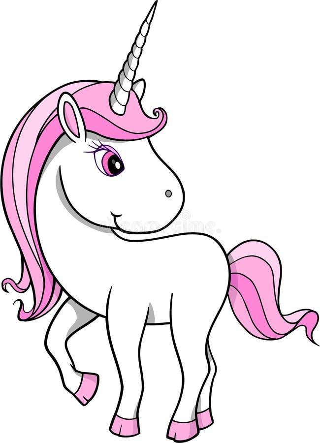 Pretty Unicorn Vector stock illustration