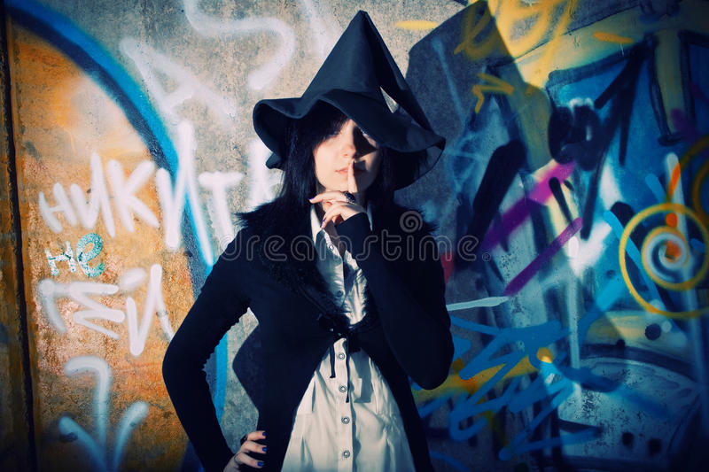 Pretty witch royalty free stock photography