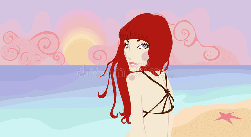 Download Pretty Woman On The Beach Stock Photo - Image: 21448720