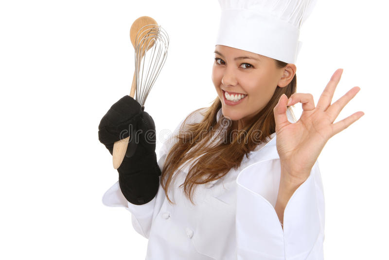 Pretty Woman Chef stock image