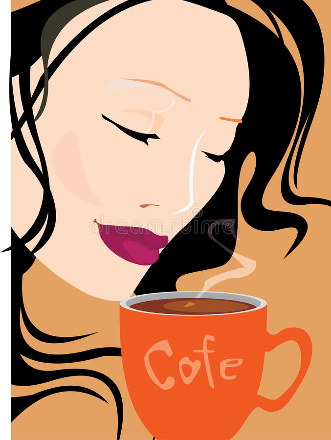 Download Pretty Woman With Coffee Royalty Free Stock Photos - Image: 23022238